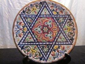 Ceramicas Sevilla Handmade Star Of David Mosaic Pl