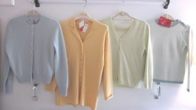 Lot Of 5 Super Soft Cashmere Sweaters-Pastels