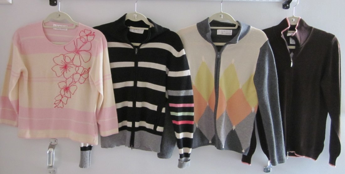 162: Lot of  4 Sweaters By Debra C. Beverly Hills