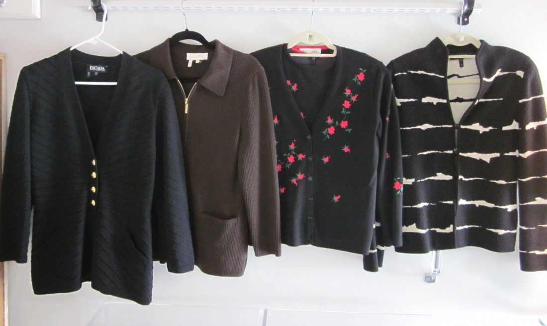 163: Lot of Vintage Escada Sweaters/Jackets