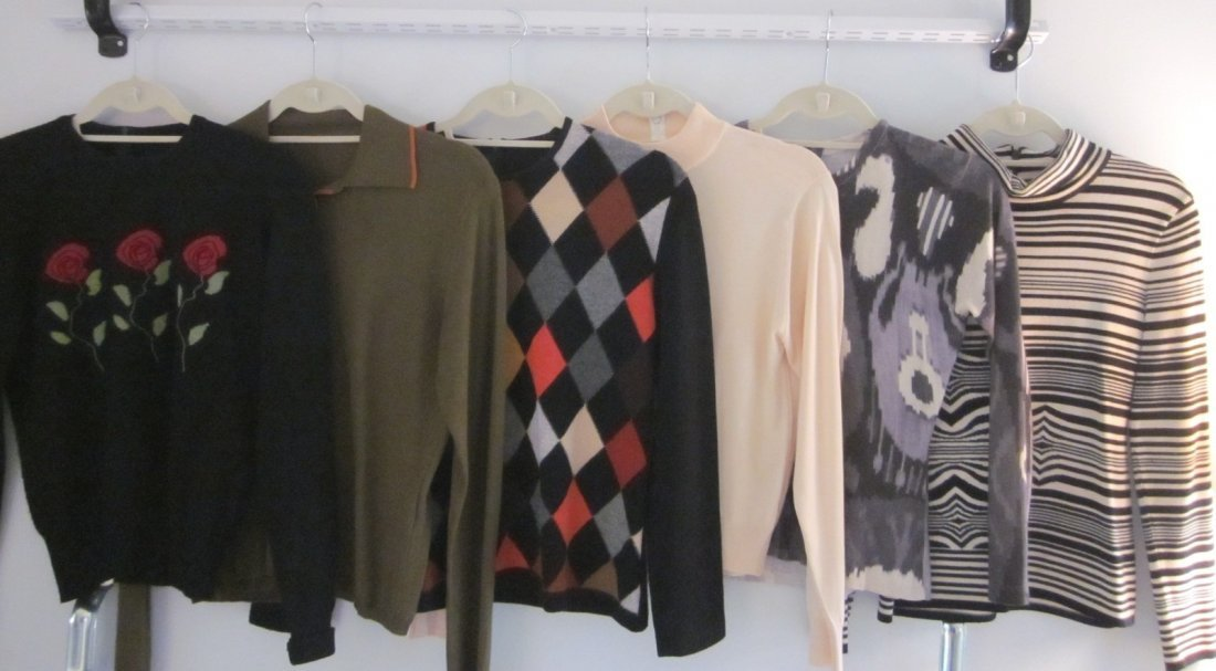 164: Nice Lot of  6  Designer Patterned Sweaters