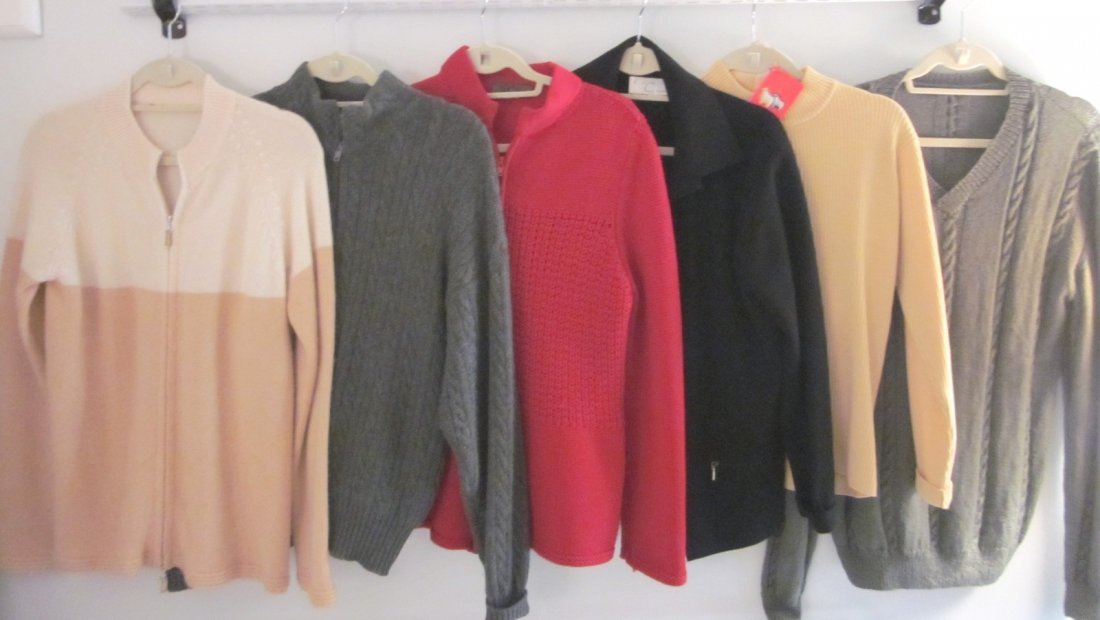 166: Lot of 6 Designer Cashmere Sweaters