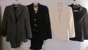 Lot Of 4 Escada Designer Suits Size 34