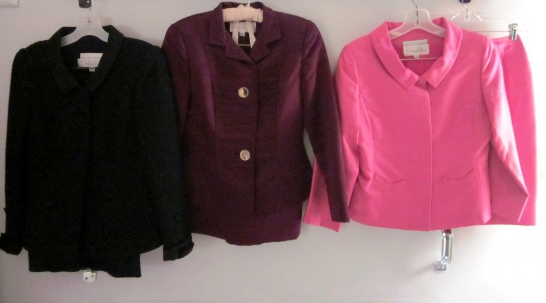 177: Lot of 3 Gorgeous Oscar de la Renta Skirt Suits