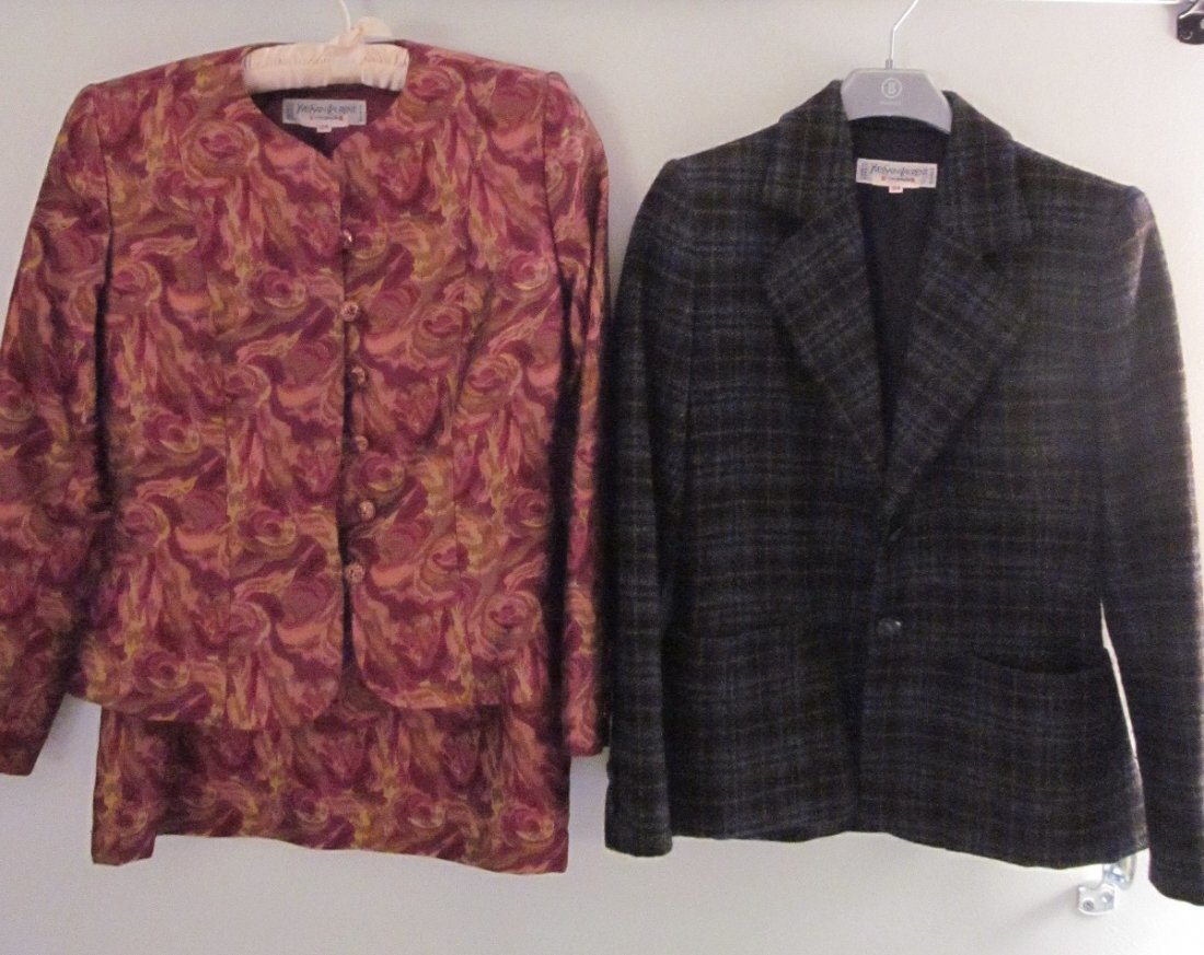 178: Lot of 3 YSL Rive Gauche Pieces 1 Skirt Suit /Blaz