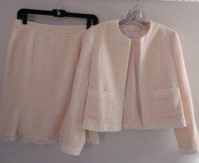 Monique Lhuillier White Skirt Suit