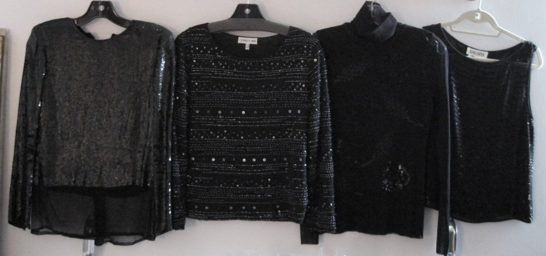 180:  Lot of  Escada & Cerruti  Beaded & Sequined Tops