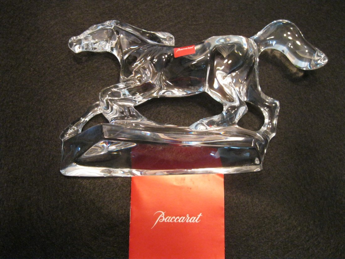 186: Baccarat Crystal Racing Horse