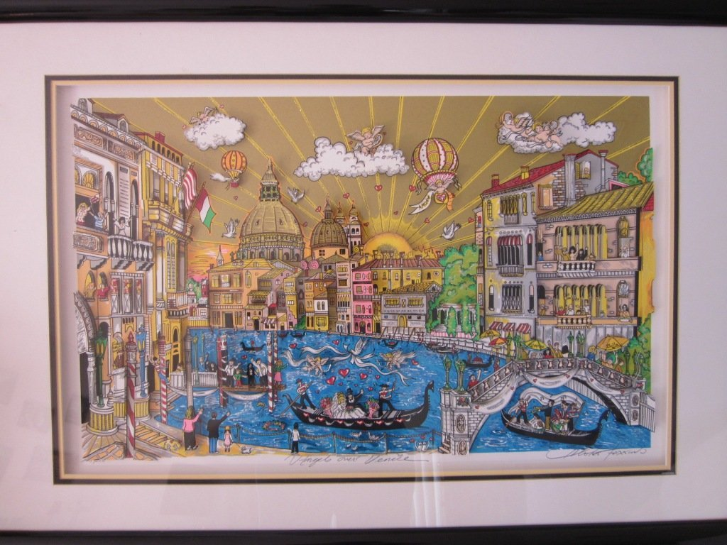 "191: Charles Fazzino ""Angels Over Venice"" 3-D 123/250"