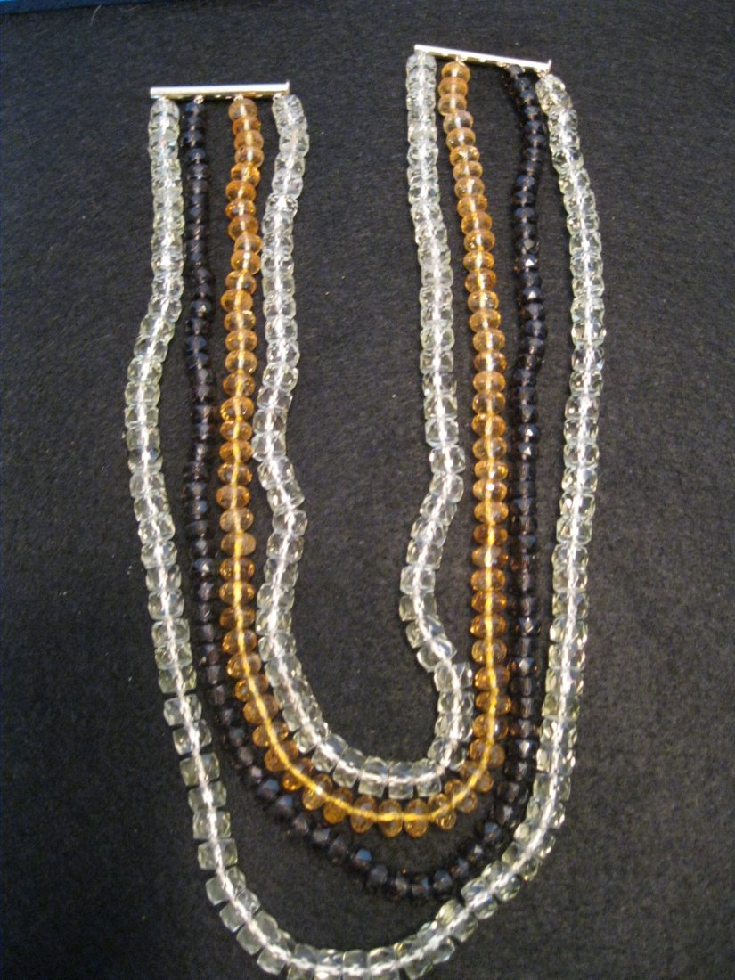 237: Crystal Beaded 14Kt Necklace