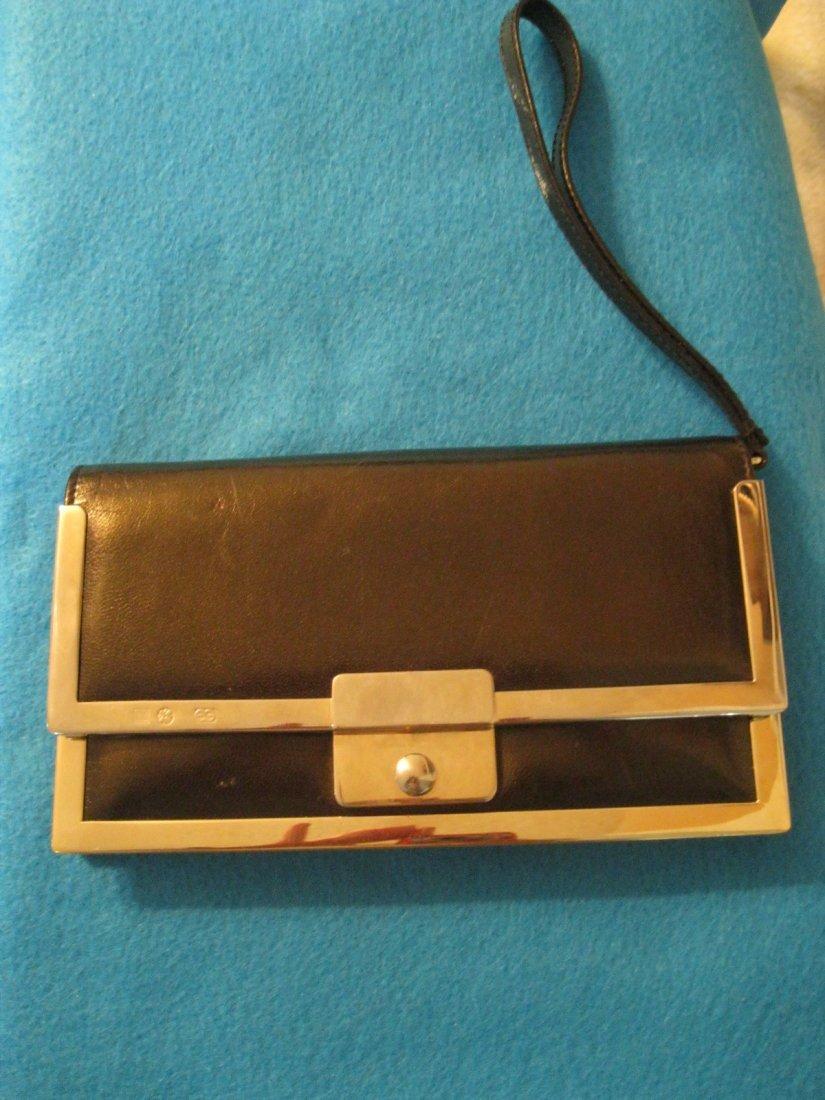 137: Escada Leather Wallet w/ Metal Hardware Trim