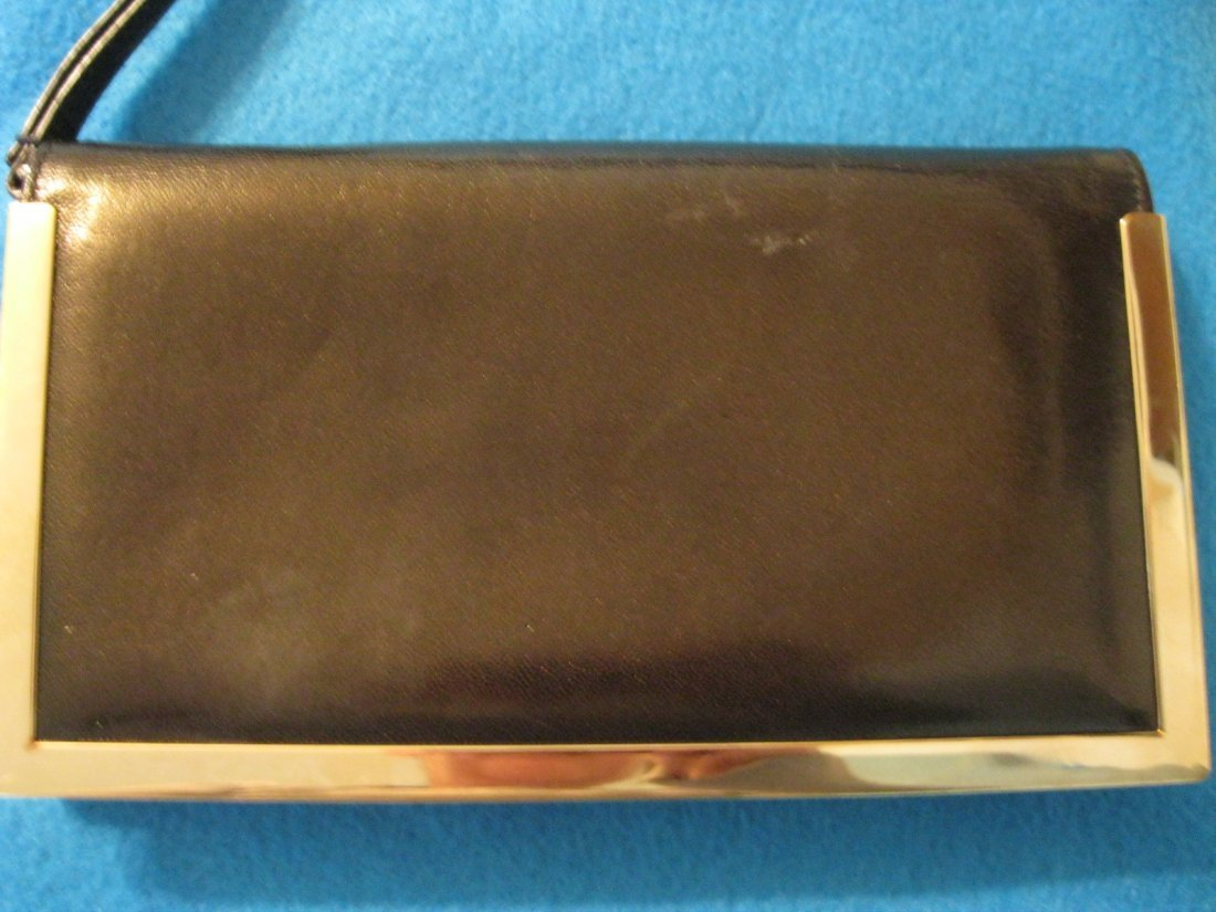 137: Escada Leather Wallet w/ Metal Hardware Trim - 4
