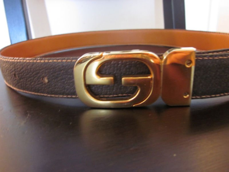 268: Gucci Brown Woman's Leather Belt