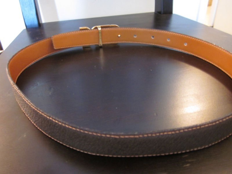 268: Gucci Brown Woman's Leather Belt - 2