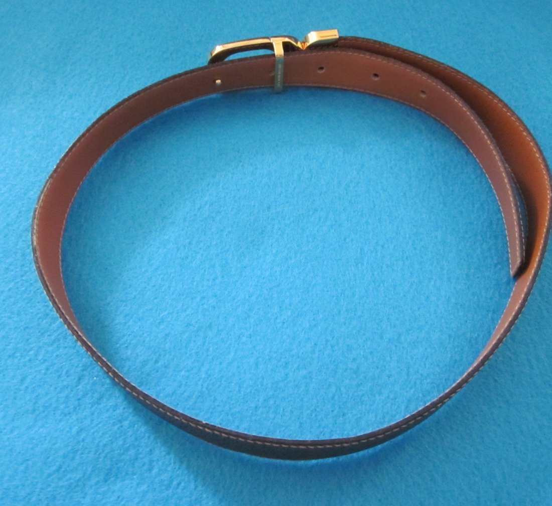 268: Gucci Brown Woman's Leather Belt - 3
