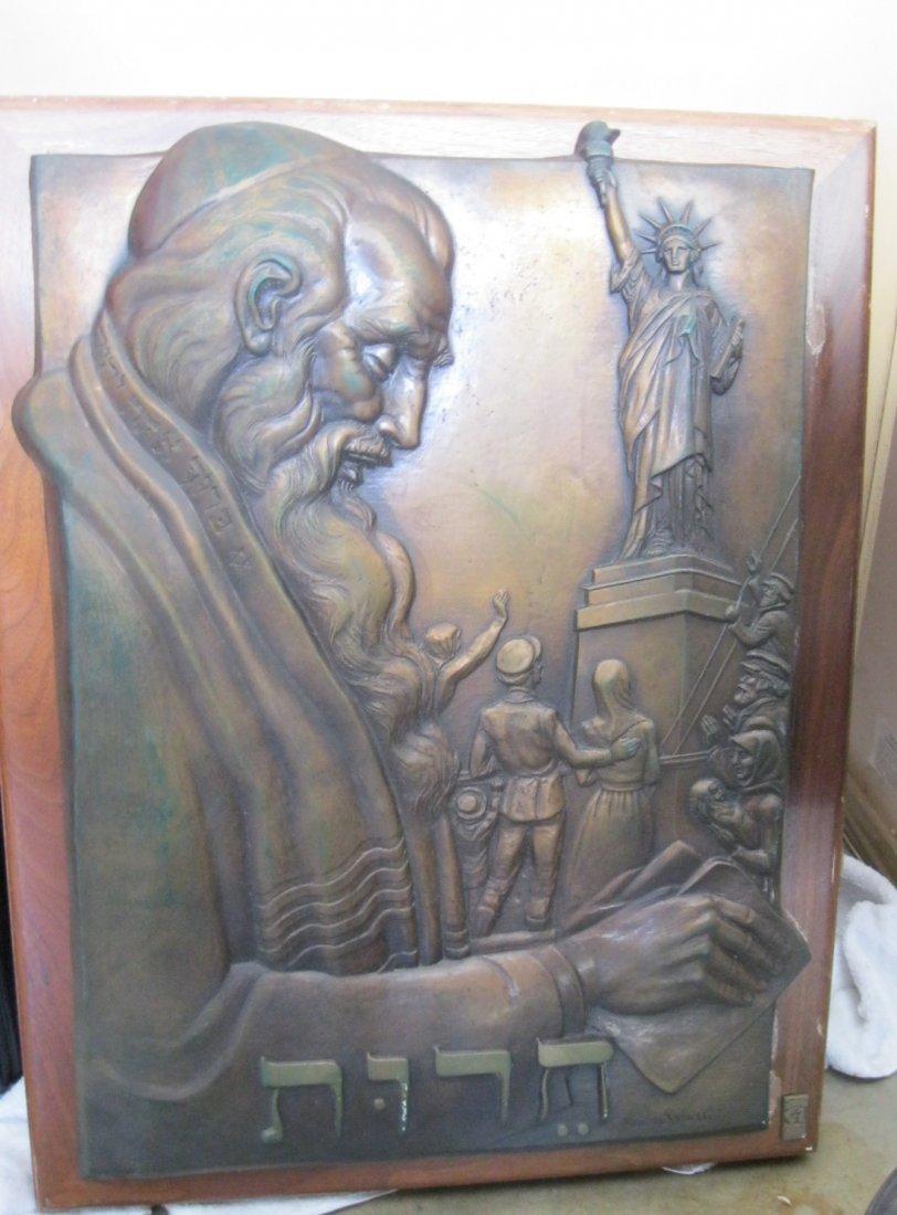 """108: Rare Karen Worth """"Liberty Ellis Island"""" Bronze Scu"""