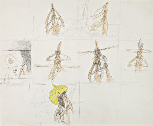214: Roberto MATTA   Figure studies