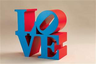 219: Robert INDIANA LOVE (Blue faces Red sides)
