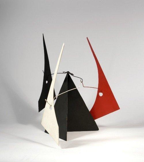 223: Alexander CALDER   Black, White and Red Sails