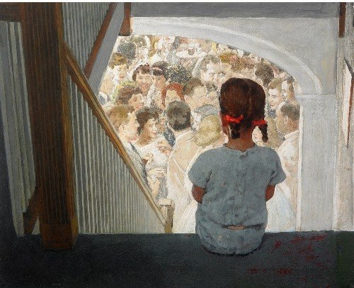 224: Norman ROCKWELL   A balcony seat