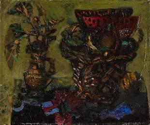 240: Antoni CLAVE Nature morte aux deux vases