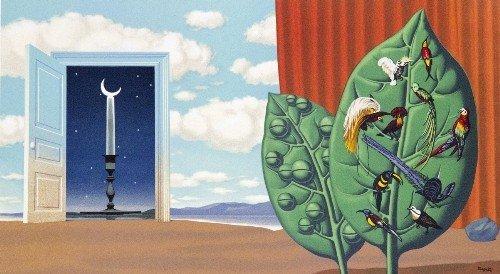 18: Rene MARGRITTE - Une portes'ouvre sur la nuit velou