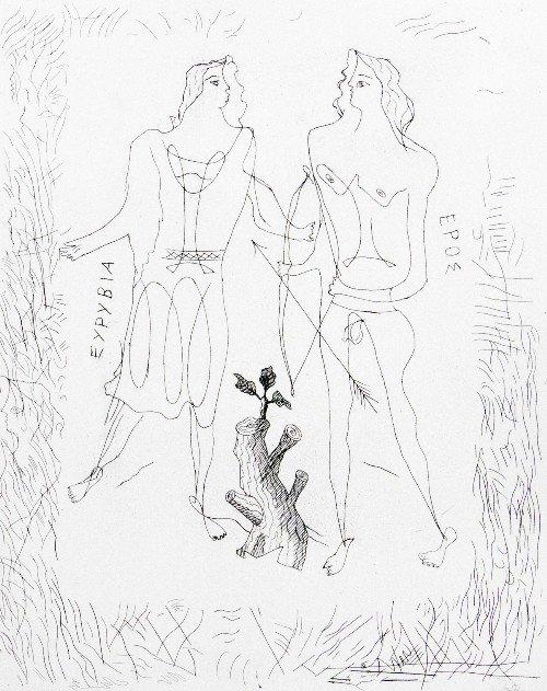 22: Georges BRAQUE - Eurybia and Eros