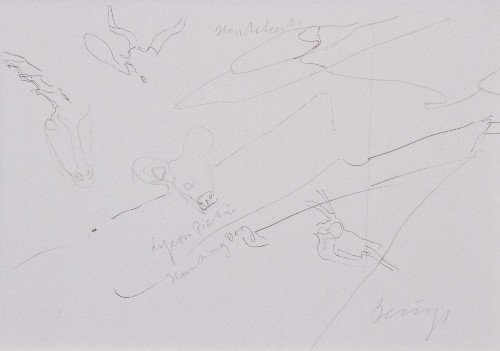 42: Joseph BEUYS - Drawings after Codices Madrid by Leo - 2