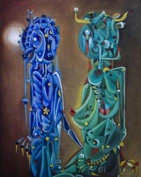 12: Jose MIJARES (1921-2004) , Blue and green creatures