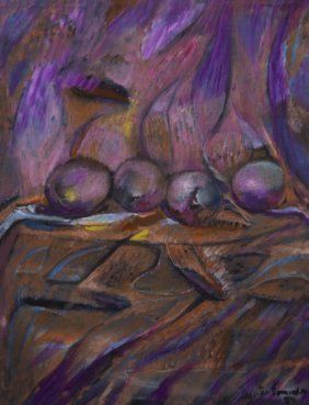 16: Agustín FERNANDEZ (1928-2006) , Pink and purple sti