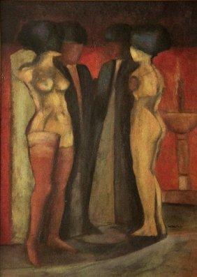 18: Armando MORALES (1927-2011) , Four shadowy figures,
