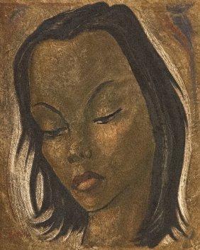19: Angel BOTELLO (1913-1986) , Pensive woman