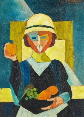 20: Angel ZARRAGA (1889-1946) , Femme assise, circa 191