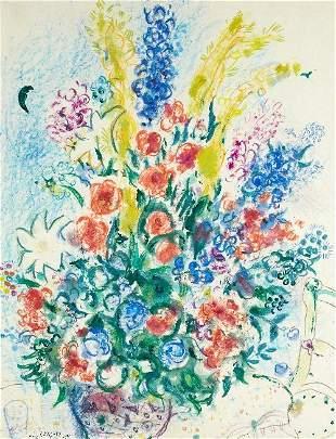 115: Marc CHAGALL (1887-1985) , Bouquet au verre ou Bou