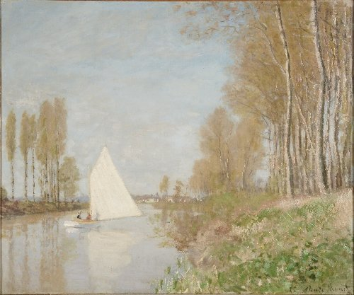 116: Claude MONET (1840-1926) , Voilier sur le petit br