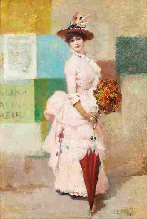 Charles Emile HEIL (1870-1950), Elégante aux affic