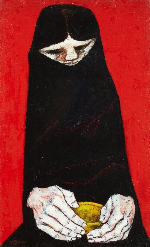 2: Eduardo KINGMAN (1913-1997) La Comida, 1972, Ecuador