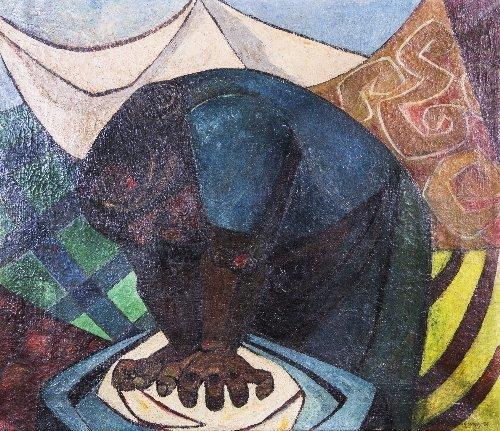3: Eduardo KINGMAN (1913-1998) La Lavanderia, 1956, Ecu
