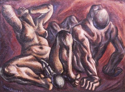 9: Arnold BELKIN (1930-1992) Two Figures, 1953