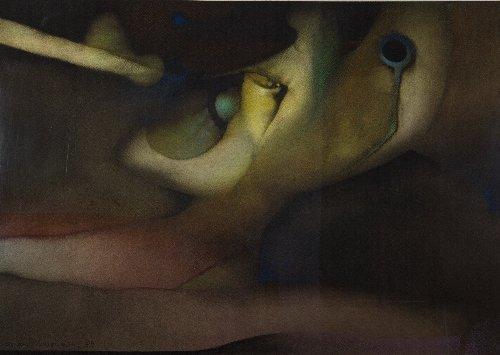 14: Cesar MENENDEZ (born in 1954) Abstraction, 1989, Sa