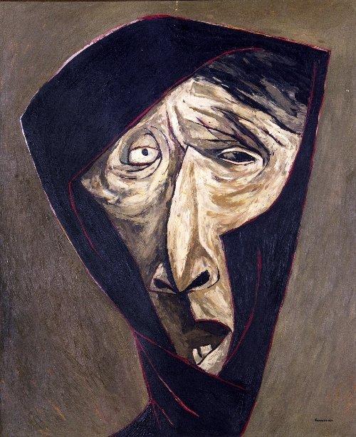16: Oswaldo GUAYASAMIN (1919-1999) Beata (Devotee), Ecu