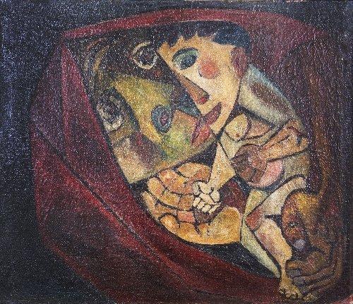 18: Eduardo KINGMAN (1913-1998) Vinculos, 1956, Ecuador