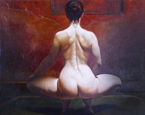 21: Heriberto COGOLLO (born in 1945)  Squatting Nude, 2