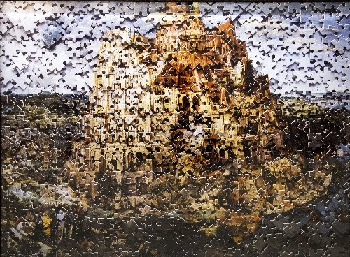 23: Vik MUNIZ (born in 1961)  The Tower of Babel after
