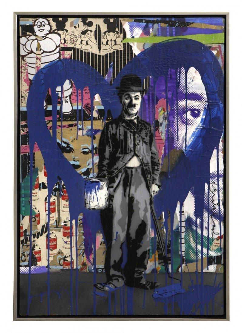 Mr. Brainwash (born in 1966) Chaplin (Blue Heart)
