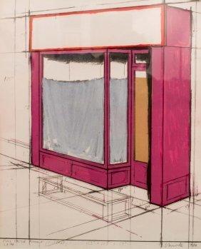 CHRISTO Pink Storefront, 1980