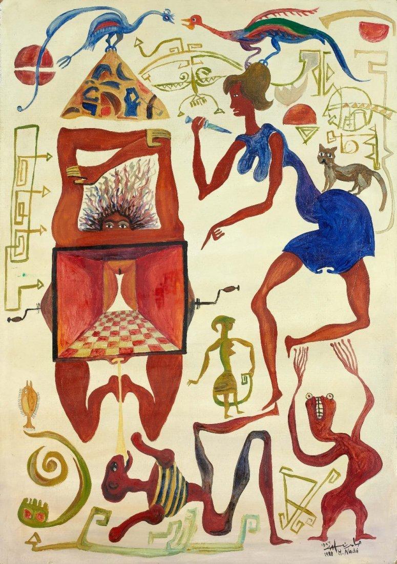Hamed NADA (1924-1990) Figures, 1988