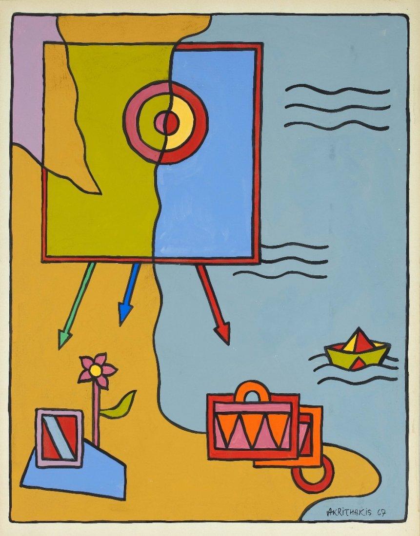 Alexis AKRITHAKIS (1939-1994) The Seaside, 1967