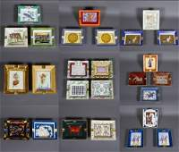 A collection of Porcelain rectangular ashtrays