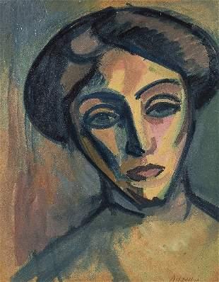 André LHOTE (1885-1962) Portrait de Madame B.